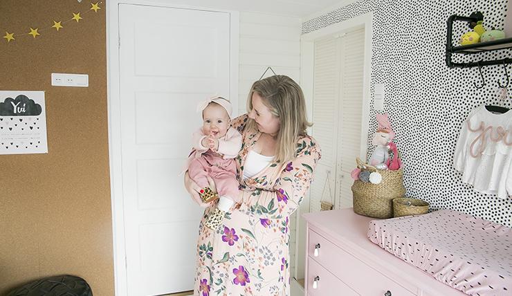 De confetti flamingo babykamer van Kim uit Oud-Rijswijk